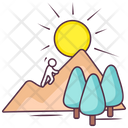 Hilly Landscape Countryside Hill Station Icon