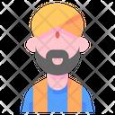 Hindu Indian Man Icon