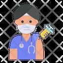Hindu Doctor Vaccination Icon