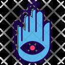 Hindu Religious Hand Icon
