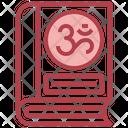 Hindu Spiritual Book Holly Book Holy Scriptures Icon