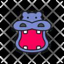 Hippo Hippopotamus Animal Icon