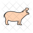 Hippo Animal Wildlife Icon