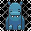 Hippo Animal Icon