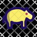 Hippo Hippopotamus Zoo Icon