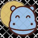 Hippo Pet Animal Icon
