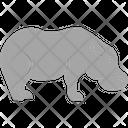 Hippo Common Hippopotamus Mammal Icon