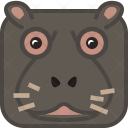 Hippo Safari Wild Icon