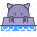 Hippo Water Icon
