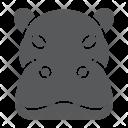 Hippo Hippopotamus Face Icon