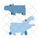 Hippopotamus Seacreature Wildlife Icon