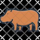 Hippopotamus Semi Aquatic Mammal Mud Icon