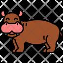 Hippopotamus Hippo Wild Animal Icon