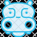 Hippopotamus Hippo Animal Icon