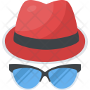 Hat Glasses Summer Icon