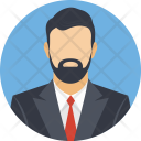 Hipster Beard Person Icon