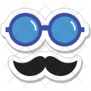 Hipster Glasses Moustache Icon