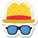Hipster Costume Glasses Icon