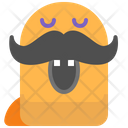Hipster Moustache Character Icon