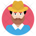 Hipster Reformer Beard Man Icon