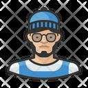 Hipster Beanie Man Icon