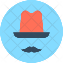 Hipster Moustache Top Icon