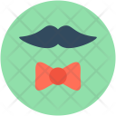 Hipster Moustache Bowtie Icon