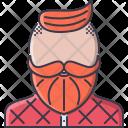Hipster Mustache Beard Icon