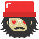 Hipster Avatar Love Icon
