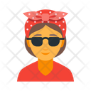 Cool Female Hipster Icon