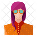 Hipster girl Icon