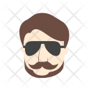 Hipster Man Icon