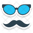Hipster Mask Moustache Funny Icon