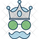 Hipster Mask Glasses Moustache Icon