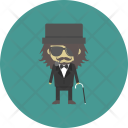 Staff Hipster Gangster Icon