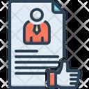 Hired Employed Signed Up Icon