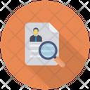 Hiring Resume Search Icon