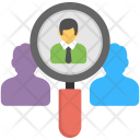 Person Hiring Magnifying Icon