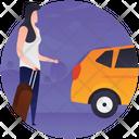 Traveller Transport Hiring Cab Icon