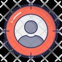 Hiring Employee Target Employee Aim Icon