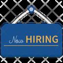 Hiring Sign Open Job Hiring Icon