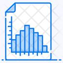 Histogram Data Analytics Infographic Icon