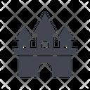 Historical Castle Basilica Castle Historical Landmark Icon