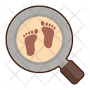 Historical Evidence Find Foot Print Detective Icon