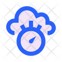 Cloud Time Stopwatch Icon
