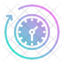 Time Clock Fast Icon