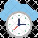 History Clock Cloud Icon