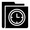Time Clock Folder Icon
