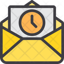 Time History Mail Schedule Mail Icon