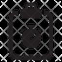 Document Records Stopwatch Icon